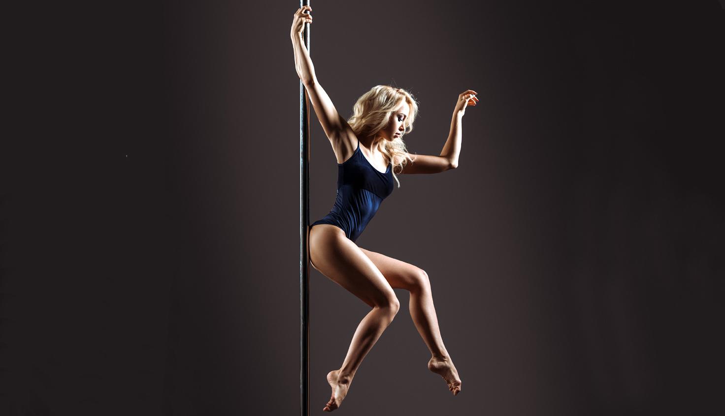Ladies Pole Dance *POLE DYNAMIX*  Pole Fitness Crop Top.Blue Avatar